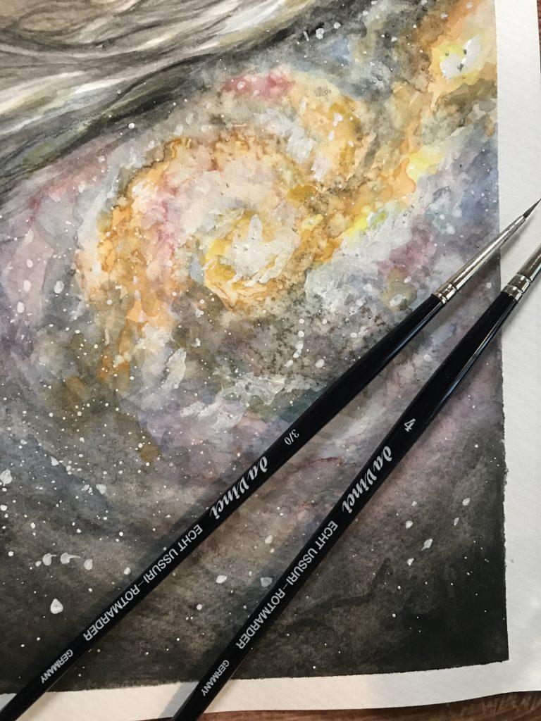 Galaxie Bild von Denise Blau